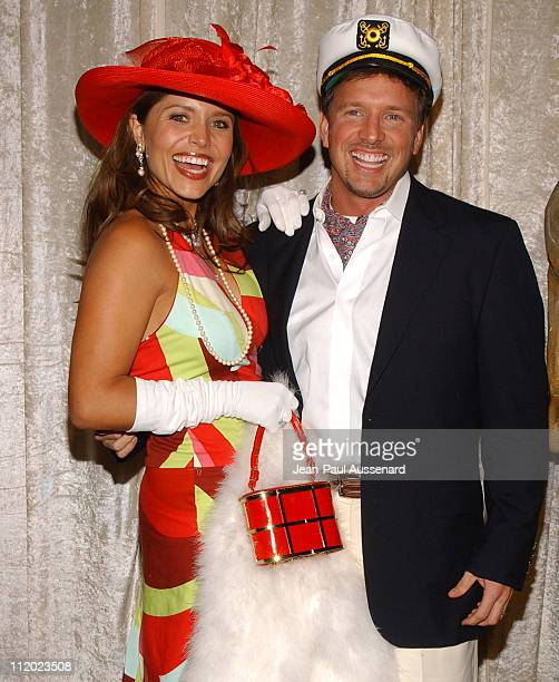 Mindy Burbano and Glenn Stearns during The Real Gilligan's Island Launch Party at Pearl in West Hollywood California United States