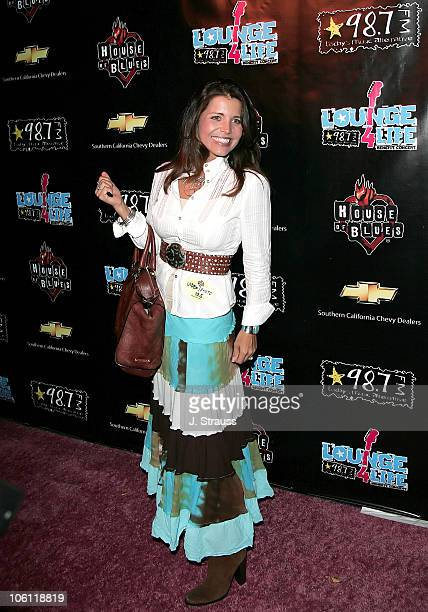 Mindy Burbano during 987 FM Lounge 4 Life Benefit Concert Arrivals at House of Blues in Hollywood California United States