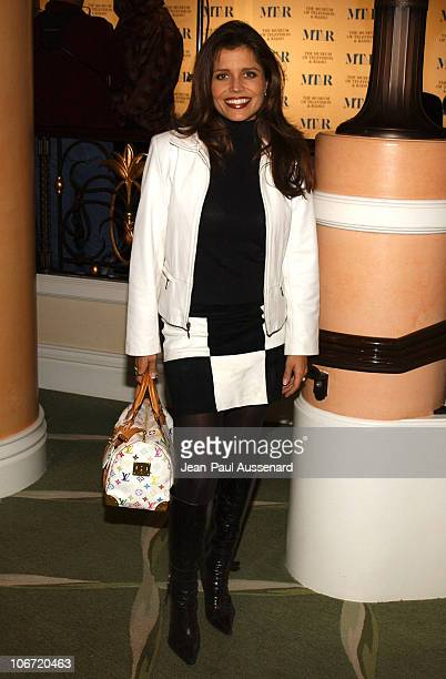 Mindy Burbano during The Museum of Television and Radio Honors CBS News's Dan Rather and Friends Producing Team Inside at Beverly Hills Hotel in...