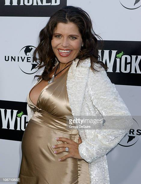 Mindy Burbano during Wicked Los Angeles Opening Night Arrivals at The Pantages Theatres in Los Angeles California United States
