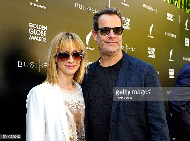Mindy Crist and actor Josh Stamberg attend the Art For Amnesty PreGolden Globes Recognition Brunch at Chateau Marmont on January 8 2016 in Los...