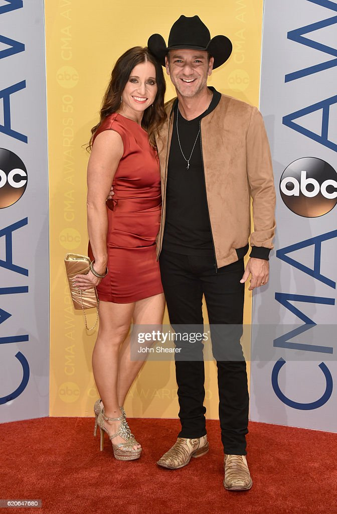 Mindy Ellis and Singer Craig Campbell attend the 50th annual CMA Awards at the Bridgestone Arena on November 2, 2016 in Nashville, Tennessee.