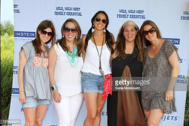 Mindy Feinberg Jackie Harris Hochberg Amanda Poses Bari Katz and Alison Hirshman Brettschneider attend the 2011 Family Day Wild Wild West carnival at...