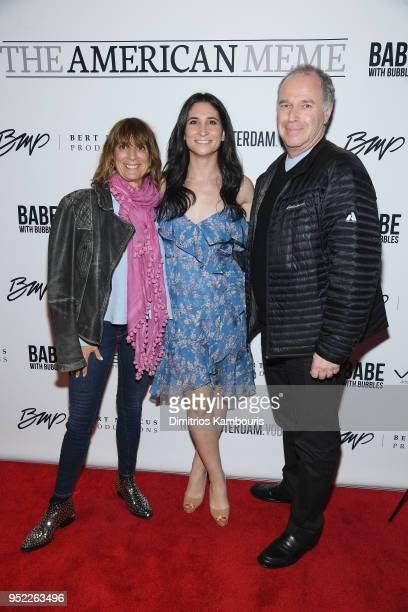 Mindy Garelick Cassandra Hamar and Chuck Garelick attend the 2018 Tribeca Film Festival World Premiere of Bert Marcus' THE AMERICAN MEME on April 27...
