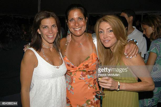Mindy Greenblatt Stacey Lesser and Stephanie Johnson attend Cocktail Party With Steven Schonfeld Celebrating Mindy Greenblatt's Birthday at Watermill...
