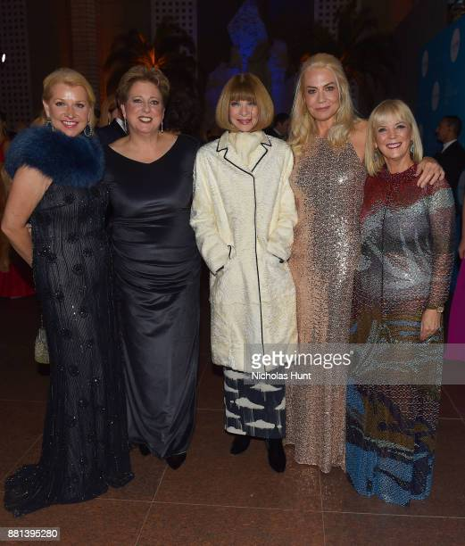 Mindy Grossman Caryl M Stern Anna Wintour Elizabeth Smith and Carol J Hamilton attend 13th Annual UNICEF Snowflake Ball 2017 at 60 Wall Street Atrium...