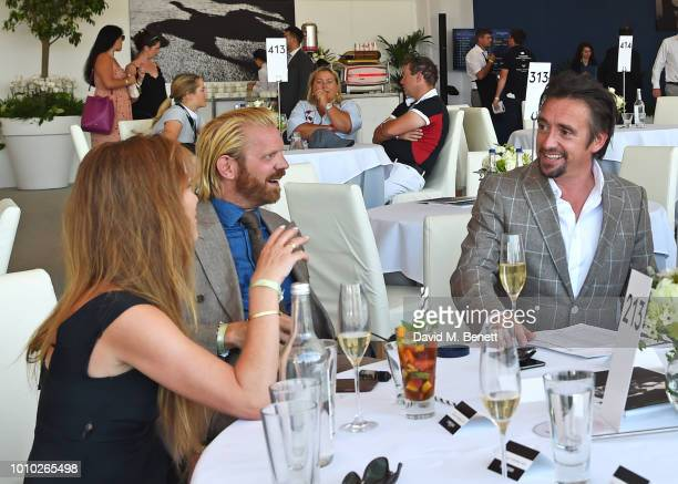 Mindy Hammond Alistair Guy and Richard Hammond attend the Longines hospitality lounge during the Global Champions Tour at Royal Hospital Chelsea on...