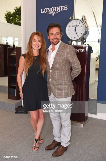 Mindy Hammond and Richard Hammond attend the Longines hospitality lounge during the Global Champions Tour at Royal Hospital Chelsea on August 3 2018...