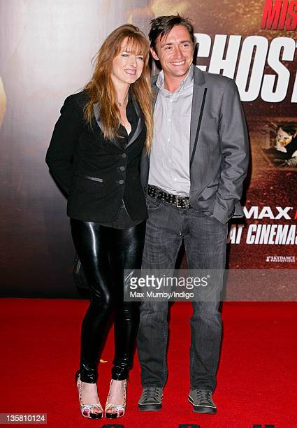 Mindy Hammond and Richard Hammond attend the UK premiere of 'Mission Impossible Ghost Protocol' at BFI IMAX on December 13 2011 in London England