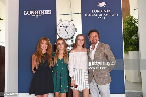 Mindy Hammond Isabella Hammond Willow Hammond and Richard Hammond attend the Longines hospitality lounge during the Global Champions Tour at Royal...