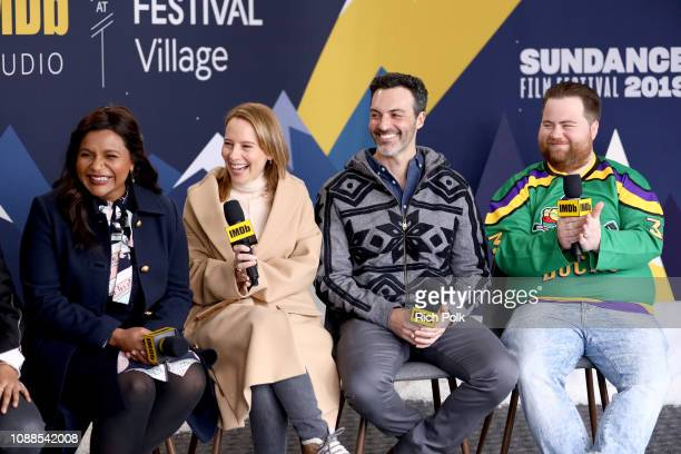Mindy Kaling, Amy Ryan, Reid Scott and Paul Walter Hauser of 'Late Night' attend The IMDb Studio at Acura Festival Village on location at the 2019...