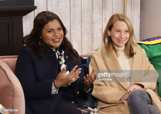 Mindy Kaling and Amy Ryan attend The Hollywood Reporter 2019 Sundance Studio At Sky Strada Park City on January 25 2019 in Park City Utah