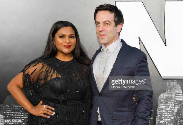 """Mindy Kaling and B. J. Novak attend the LA premiere of Amazon Studio's """"Late Night"""" at The Orpheum Theatre on May 30, 2019 in Los Angeles, California."""