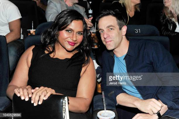 Mindy Kaling and BJ Novak arrive at the 2018 LA Film Festival Gala Screening of 'The Oath' at ArcLight Hollywood on September 25 2018 in Hollywood...