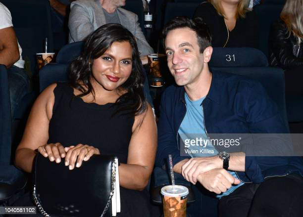 Mindy Kaling and BJ Novak attend LA Film Festival World Premiere Gala Screening Of THE OATH on September 25 2018 in Los Angeles California