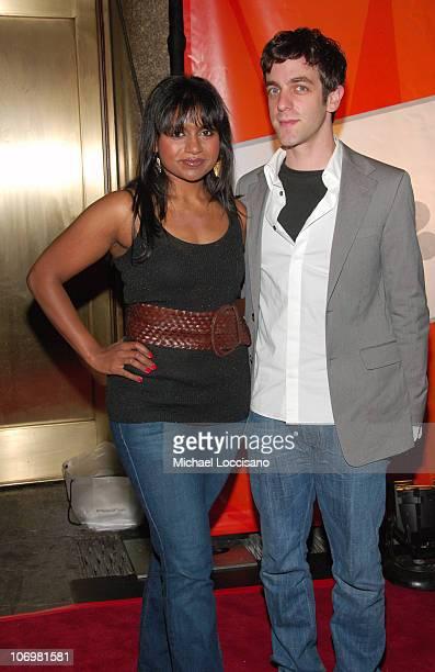 Mindy Kaling and B.J Novak during NBC 2006-2007 Primetime Upfront at Radio City Music Hall in New York City, New York, United States.