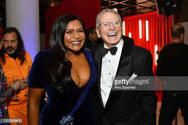 Mindy Kaling and Bob Mackie attend the 22nd CDGA at The Beverly Hilton Hotel on January 28 2020 in Beverly Hills California