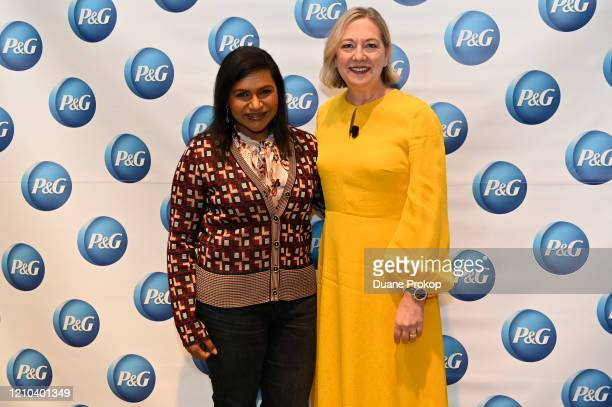 Mindy Kaling and Carolyn Tostad attend the PG #WeSeeEqual Forum held at Proctor Gamble on March 04 2020 in Cincinnati Ohio