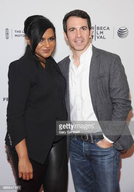 Mindy Kaling and director/actor Chris Messina attend the 'Alex of Venice' screening during the 2014 Tribeca Film Festival at SVA Theater on April 18...