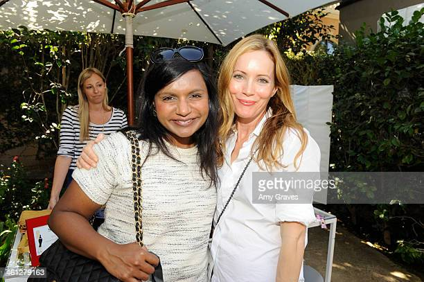 Mindy Kaling and Leslie Mann attend the annual Jen Klein Day of Indulgence Summer Party August 11 2013 in Los Angeles California