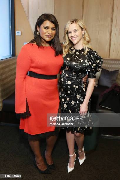 Mindy Kaling and Reese Witherspoon pose during the Hulu '19 Presentation at Hulu Theater at MSG on May 01 2019 in New York City