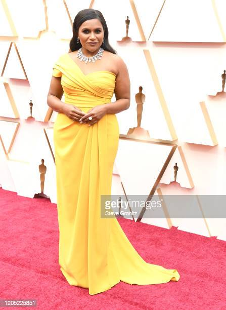 Mindy Kaling arrives at the 92nd Annual Academy Awards at Hollywood and Highland on February 09 2020 in Hollywood California