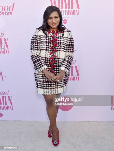 Mindy Kaling arrives at The Hollywood Reporter's Annual Women in Entertainment Breakfast Gala at Milk Studios on December 11, 2019 in Hollywood,...