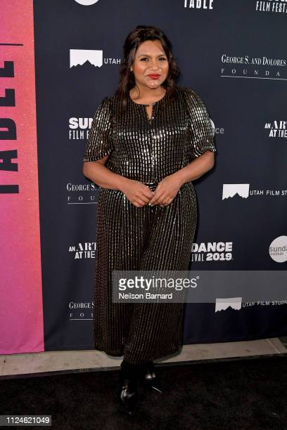 Mindy Kaling attends An Artist at the Table Dinner and Program during the 2019 Sundance Film Festival at Utah Film Studios on January 24 2019 in Park...