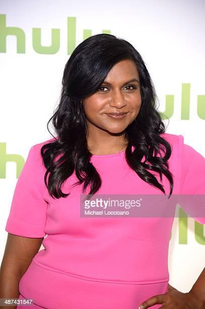Mindy Kaling attends Hulu's Upfront Presentation on April 30 2014 in New York City