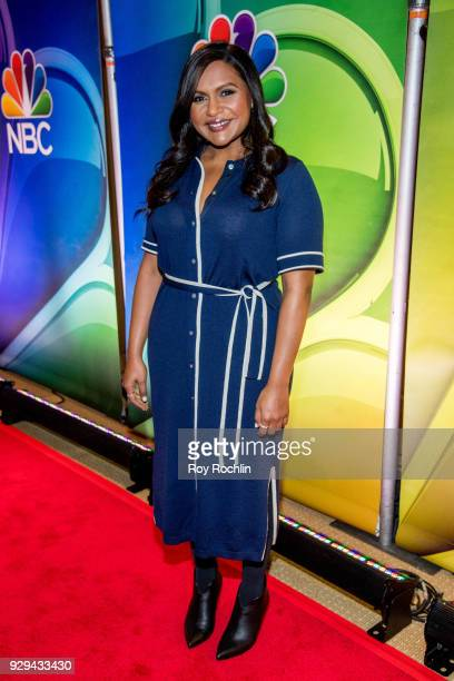 Mindy Kaling attends NBC's New York mid season press junket at Four Seasons Hotel New York on March 8 2018 in New York City