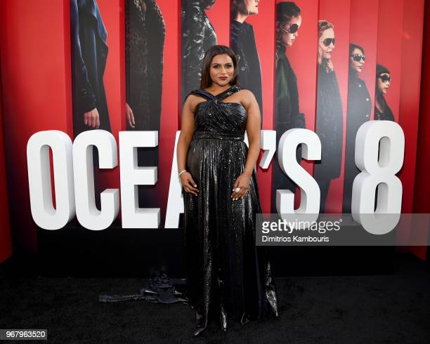 Mindy Kaling attends 'Ocean's 8' World Premiere at Alice Tully Hall on June 5 2018 in New York City