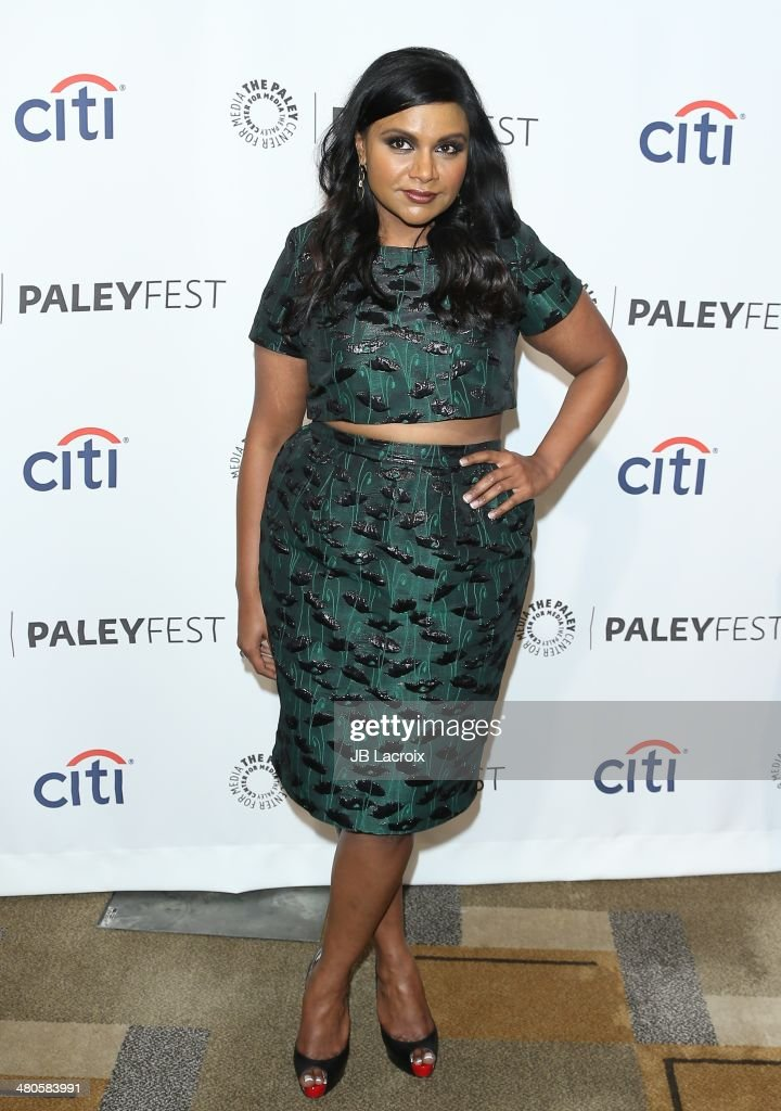 Mindy Kaling attends the 2014 PaleyFest - 'The Mindy Project' held at Dolby Theatre on March 21, 2014 in Hollywood, California.