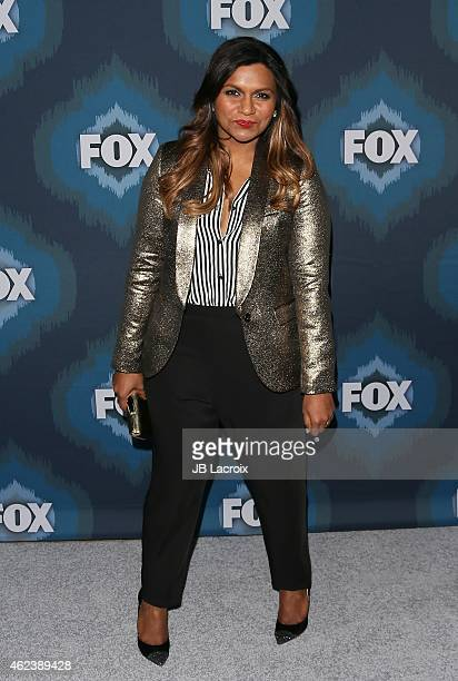 Mindy Kaling attends the 2015 Fox AllStar Party at the Langham Hotel on January 17 2015 in Pasadena California