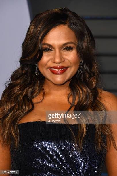 Mindy Kaling attends the 2018 Vanity Fair Oscar Party hosted by Radhika Jones at the Wallis Annenberg Center for the Performing Arts on March 4 2018...