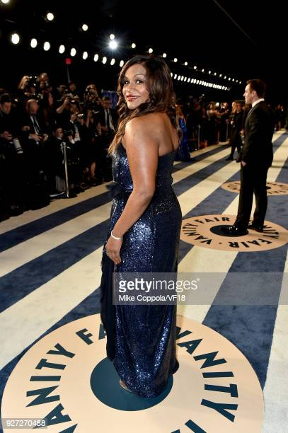 Mindy Kaling attends the 2018 Vanity Fair Oscar Party hosted by Radhika Jones at Wallis Annenberg Center for the Performing Arts on March 4 2018 in...
