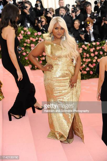 Mindy Kaling attends The 2019 Met Gala Celebrating Camp Notes On Fashion Arrivals at The Metropolitan Museum of Art on May 6 2019 in New York City