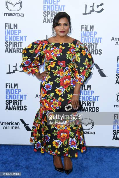 Mindy Kaling attends the 2020 Film Independent Spirit Awards on February 08 2020 in Santa Monica California