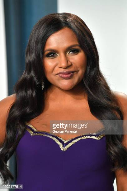 Mindy Kaling attends the 2020 Vanity Fair Oscar party hosted by Radhika Jones at Wallis Annenberg Center for the Performing Arts on February 09, 2020...
