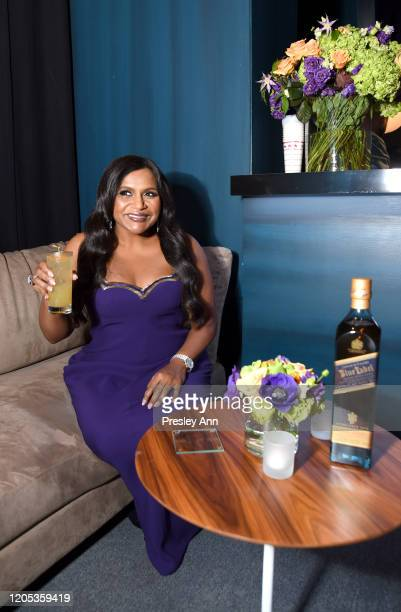 Mindy Kaling attends the 2020 Vanity Fair Oscar Party Hosted By Radhika Jones at Wallis Annenberg Center for the Performing Arts on February 09 2020...