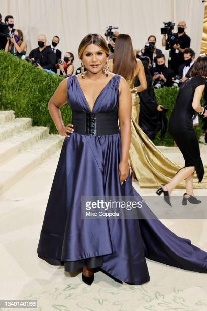 Mindy Kaling attends The 2021 Met Gala Celebrating In America: A Lexicon Of Fashion at Metropolitan Museum of Art on September 13, 2021 in New York...