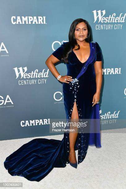 Mindy Kaling attends the 22nd CDGA at The Beverly Hilton Hotel on January 28, 2020 in Beverly Hills, California.