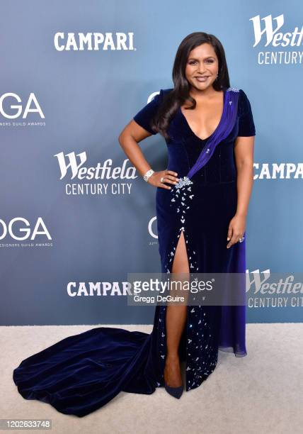 Mindy Kaling attends the 22nd CDGA at The Beverly Hilton Hotel on January 28 2020 in Beverly Hills California