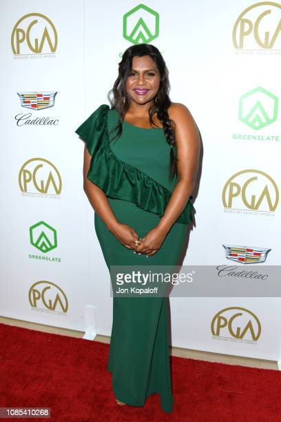 Mindy Kaling attends the 30th annual Producers Guild Awards at The Beverly Hilton Hotel on January 19 2019 in Beverly Hills California