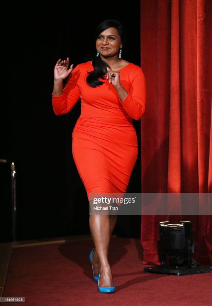Mindy Kaling attends the 66th Primetime Emmy Awards nominations held at Leonard H. Goldenson Theatre on July 10, 2014 in North Hollywood, California.