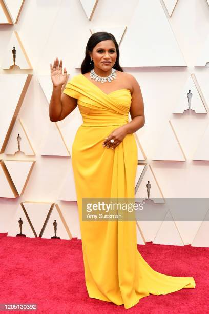Mindy Kaling attends the 92nd Annual Academy Awards at Hollywood and Highland on February 09, 2020 in Hollywood, California.