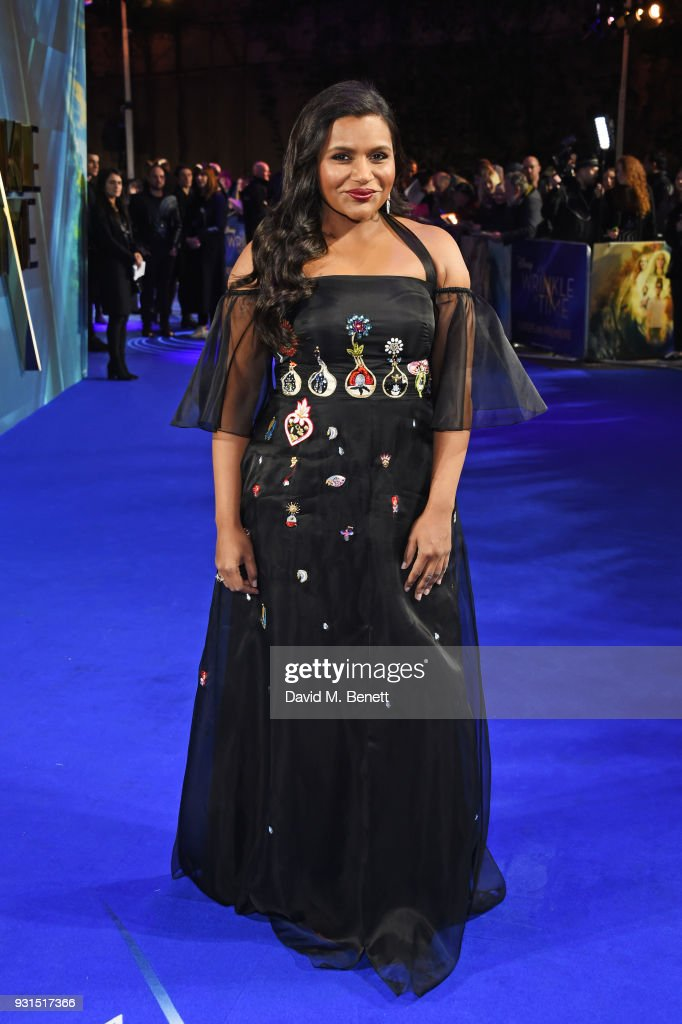 Mindy Kaling attends the European Premiere of 'A Wrinkle In Time' at the BFI IMAX on March 13, 2018 in London, England.