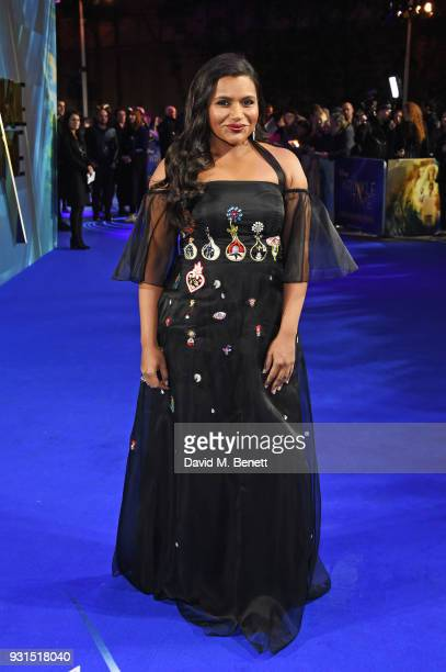 Mindy Kaling attends the European Premiere of 'A Wrinkle In Time' at the BFI IMAX on March 13 2018 in London England