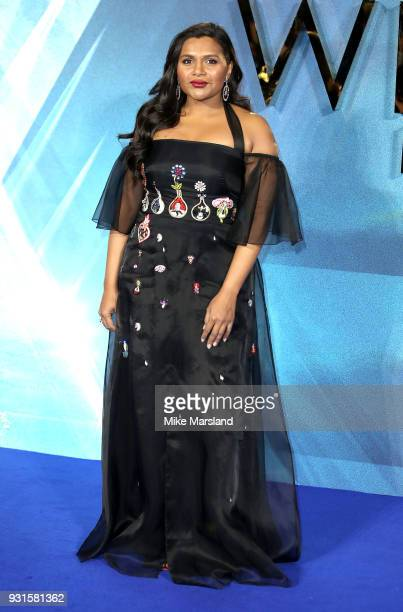 Mindy Kaling attends the European Premiere of 'A Wrinkle In Time' at BFI IMAX on March 13 2018 in London England