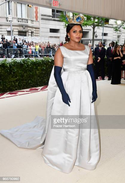 Mindy Kaling attends the Heavenly Bodies Fashion The Catholic Imagination Costume Institute Gala at The Metropolitan Museum of Art on May 7 2018 in...