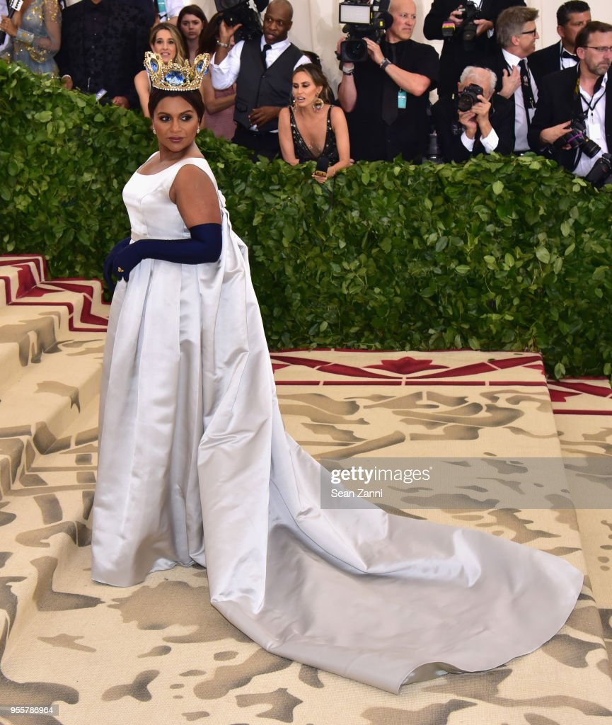 Mindy Kaling attends the Heavenly Bodies: Fashion & The Catholic Imagination Costume Institute Gala at The Metropolitan Museum of Art on May 7, 2018 in New York City.
